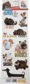 The Secret Life of Pets stickervel 40 x15 cm.