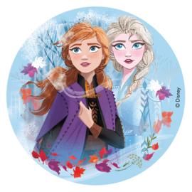 Disney Frozen II eetbare taart decoratie ø 16 cm.