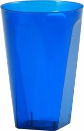 Royal Blue wegwerp limonade glazen 21 cl. 8 st.
