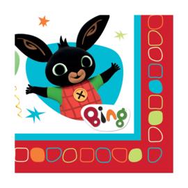 Bing servetten 32,7  x 32,7 cm. 16 st.
