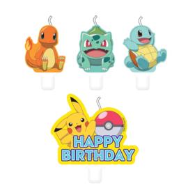 Pokémon taart kaarsjes set