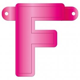 Banner letter F fuchsia