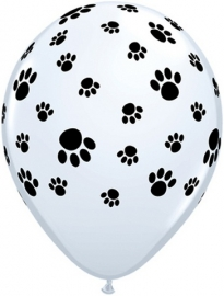 Ballonnen met pootjes afdruk ø 28 cm. 6 st.