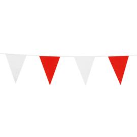Vlaggenlijn rood - wit 10 mtr.