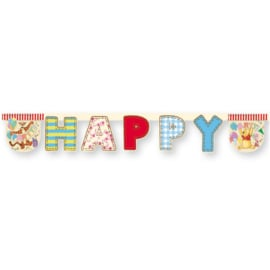 Disney Winnie de Poeh Alfabet happy birthday slinger 2,4 mtr.