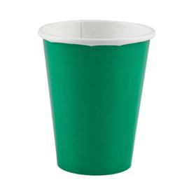 Groene wegwerp bekertjes 266 ml. 8 st.
