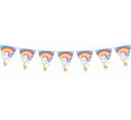 Rainbow Unicorn vlaggenlijn 3,6 mtr.