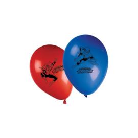Spiderman Web Warriors ballonnen ø 28 cm. 8 st.
