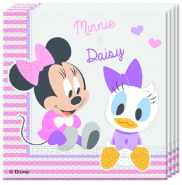 Disney Baby Minnie Mouse en Katrien servetten 33 x 33 cm. 20 st.
