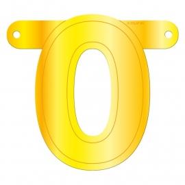 Banner cijfer 0 geel