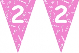 Vlaggenlijn roze 2 jaar 5 mtr.