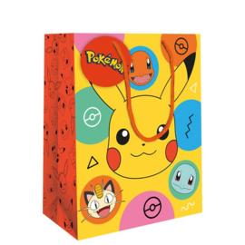 Pokémon luxe cadeau tas 26 x 33 cm.