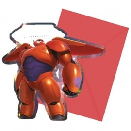 Disney Big Hero 6 uitnodigingen 6 st.