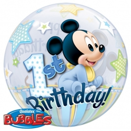 Disney Baby Mickey Mouse 1e verjaardags bubble ballon ø 56 cm.