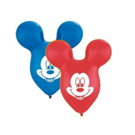 Disney Mickey Mouse silhouette ballonnen 38 cm. 4 st.