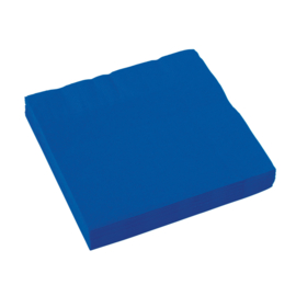 Bright Royal Blue servetten 33 x 33 cm. 20 st.