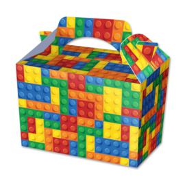 Building Block traktatie doosje p/stuk 15 x 15 x 10 cm.