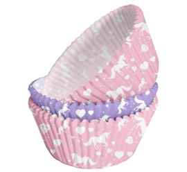 Unicorn cupcake vormpjes 75 st.