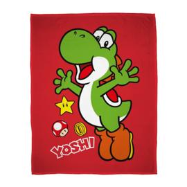 Super Mario Bros fleecedeken Yoshi 100 x 150 cm.