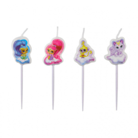 Shimmer and Shine mini figuren taart kaarsjes 4 st.