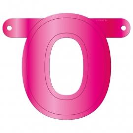 Banner letter O fuchsia