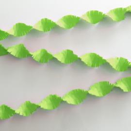 Crêpe papier slinger lime groen 6 mtr.