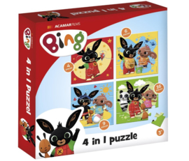 Bing puzzel 4in1 4-6-9-16 stukjes