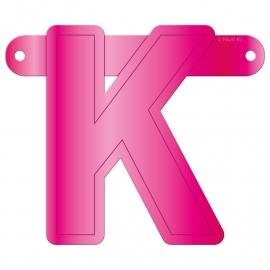 Banner letter K fuchsia