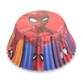 Spiderman cupcake vormpjes power 50 st.