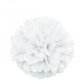 Puff ball wit ø 40,6 cm.