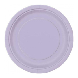 Lavendel wegwerp bordjes ø 21,9 cm. 16 st.