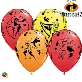 Disney The Incredibles ballonnen ø 30 cm. 6 st.