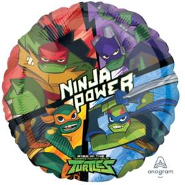 Ninja Turtles folieballon party ø 43 cm.