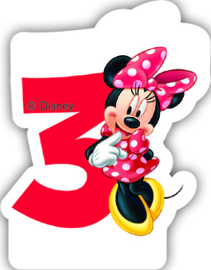 Disney Minnie Mouse 3e verjaardagskaars