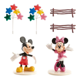 Disney Mickey en Minnie Mouse taart decoratie set