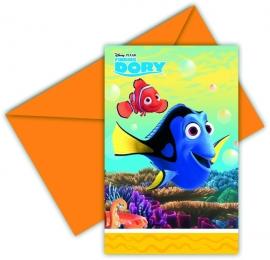 Disney Finding Dory uitnodigingen 6 st.