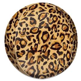 Luipaard print ORBZ ballon 38 x 40 cm.