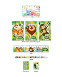 Jungle Fun schoolset 5-delig
