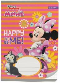Disney Minnie Mouse ruitjes schrift A5