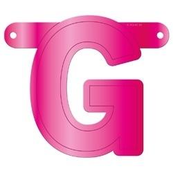 Banner letter G fuchsia