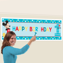 Disney Mickey Mouse 1e verjaardag personalised banner