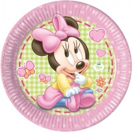 Disney Baby Minnie Mouse gebakbordjes ø 20 cm. 8 st.