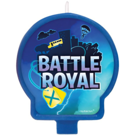 Battle Royal taart kaars H 7 x B 6,6 cm.