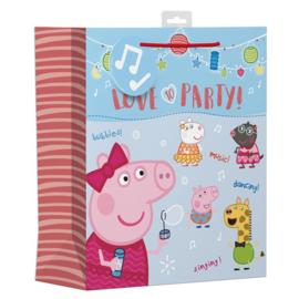 Peppa Pig luxe cadeau tas 31 x 26,5 cm.