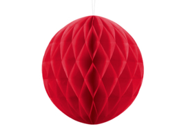Honeycomb bal party rood ø 30 cm.