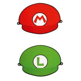 Super Mario en Luigi feesthoedjes 8 st.