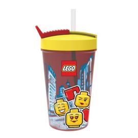 Lego Iconic Girl drinkbeker met rietje 500 ml.