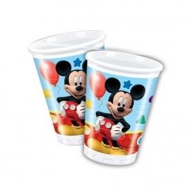 Disney Mickey Mouse bekertjes 20 cl. 8 st.