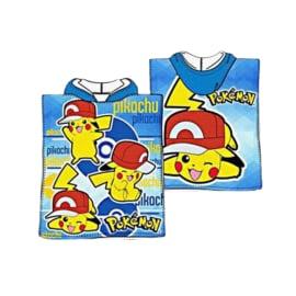 Pokémon poncho blauw 100 x 150 cm.