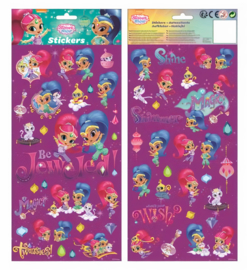 Shimmer and Shine stickervel 15,5 x 35,5 cm. 2-delig